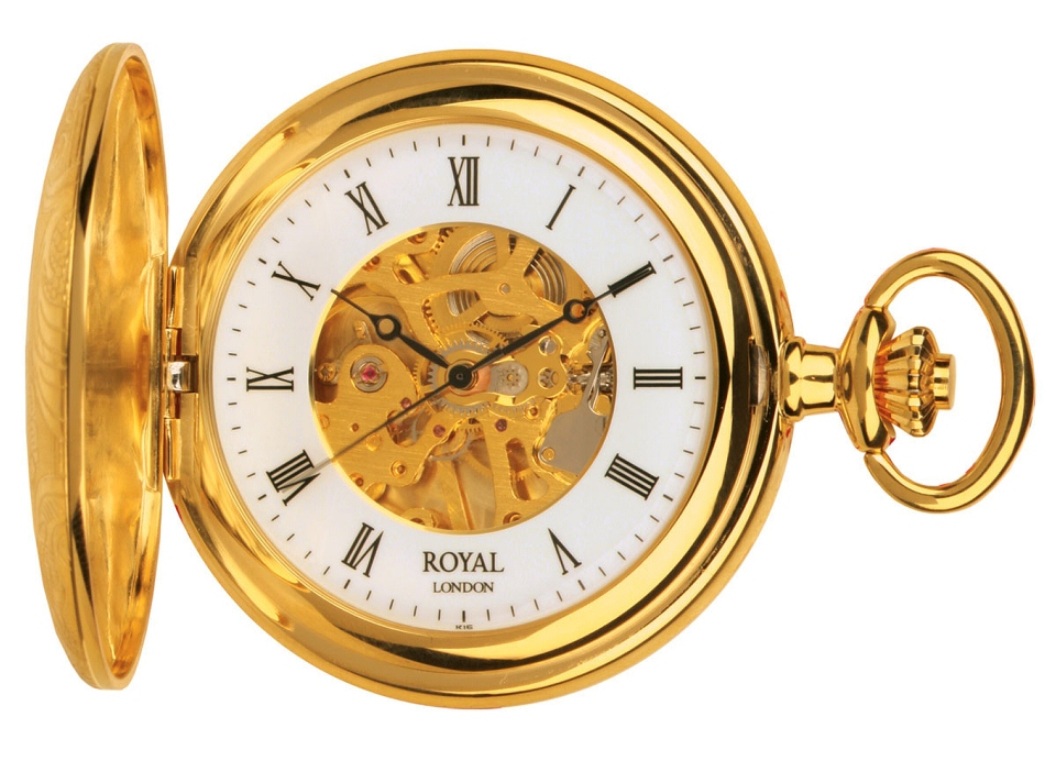 90009-01 Royal London Lommeur, guld