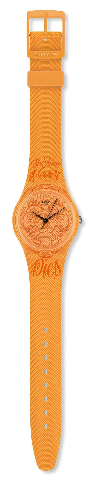SWATCH GO110 TIME NEVER DIES - ORANGE