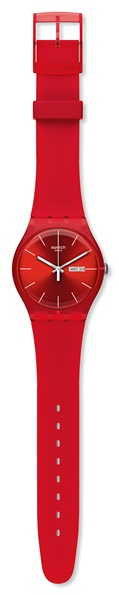 SWATCH SUOR701 UNISEX RED REBEL