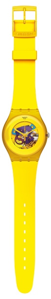 SWATCH SUOJ100 YELLOW LACQUERED