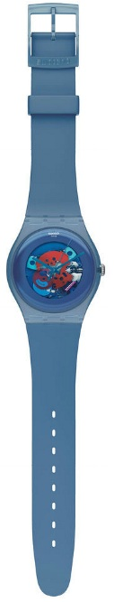 SWATCH SUON102 BLUE GREY LACQUERED