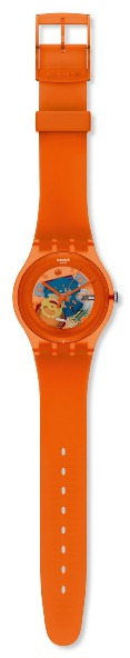 SWATCH SUOO100 ORANGISH LACQUERED