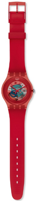 SWATCH SUOR101 RED LACQUERED