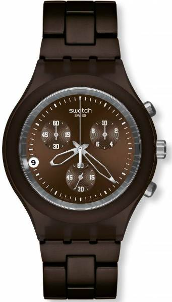 SWATCH SVCC4000AG SMOKEY BROWN CHRONO
