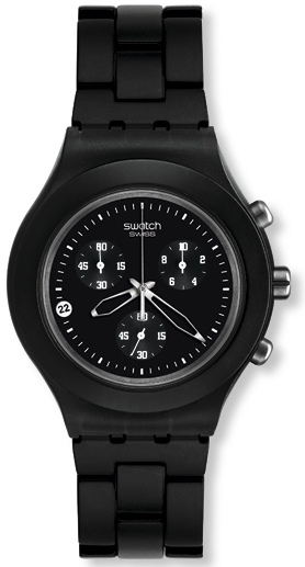 SWATCH SVCF4000AG SMOKY BLACK CHRONO