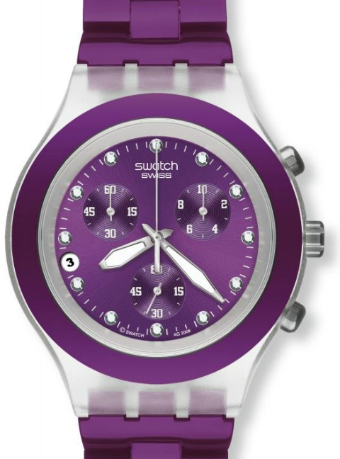 SWATCH SVCK4048AG BLUE BERRY CHRONO