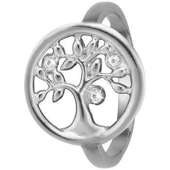 Tree Of Life sterling sølv 1,5 mm samle fingerringe smykke fra Christina Collect