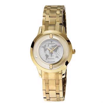 forgyldt stål Womens Collect smykke ure Schweizisk quartz dame ur fra Christina Collection