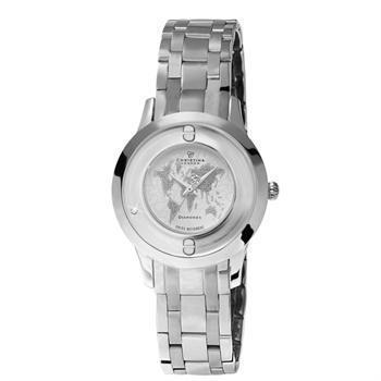 blank stål Womens Collect smykke ure Schweizisk quartz dame ur fra Christina Collection