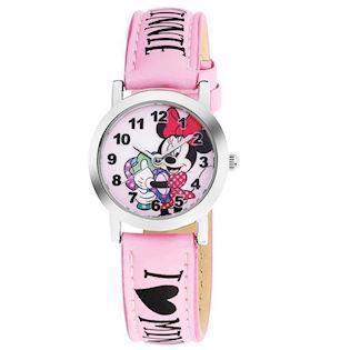 Stål Disney Minnie Mouse Quartz Pige ur fra AM:PM