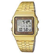 forgyldt rustfri stål Collection quartz multifunktion (3437) Herre ur fra Casio