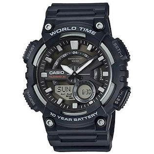 sort resin med stål Classic quartz multifunktion 5479) Herre ur fra Casio