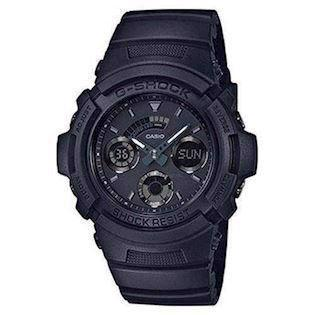 mat sort resin med stål G-Shock quartz multifunktion (4778) med radio styring Herre ur fra Casio