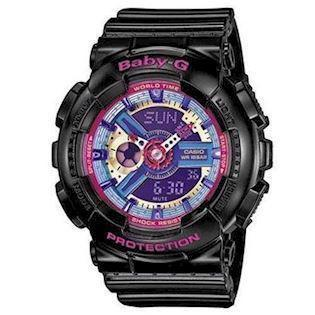 sort resin med stål Baby-G quartz multifunktion (5338) Dame ur fra Casio