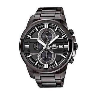 IP sort rustfri stål Edifice quartz med chrongraph (5451) Herre ur fra Casio