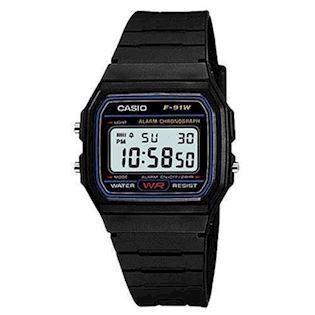 sort resin Classic quartz multifunktion (593) Herre / Junior ur fra Casio