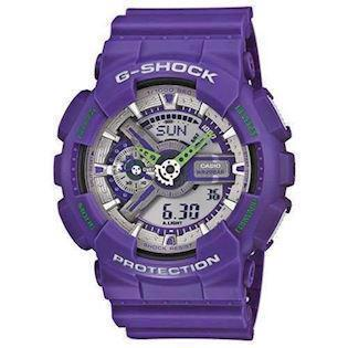lilla resin med stål G-Shock quartz multifunktion (5146) Unisex ur fra Casio