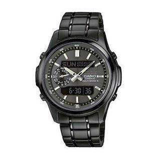mat sort IP Wave Ceptor quartz multifunktion (5110) med radio styring Herre ur fra Casio