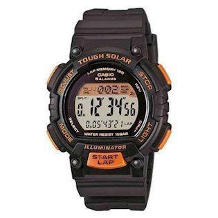sort / orange med stål Basic quartz multifunktion (3440) Herre / ungdom ur fra Casio