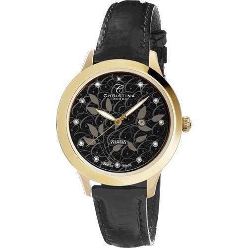 CHRISTINA WATCHES COLLECT MED DIAMANT OG BLOMSTER DAMEUR