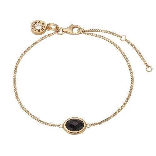 b8d19e66c2b 601 g03 black onyx forgyldt sterling sølv christina forgyldte armbånd  smykke fra c.