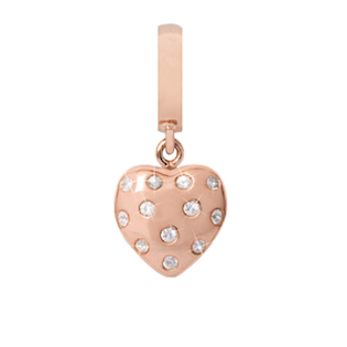 Christina Collect Million Heart Drop rosa charm