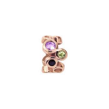 Christina Collect Multi Gemstone rosa charm