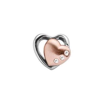 Christina Collect Topaz 2-Hearts rosa charm