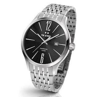 sort 45 mm Quartz Herre ur fra TW Steel Slim Line