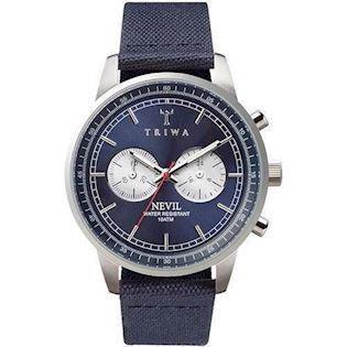 Triwa Blue Steel Nevil  herreur med chrongraph og canvas rem