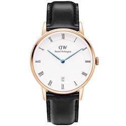 rosa forgyldt Dapper Sheffield quartz Dame ur fra Daniel Wellington