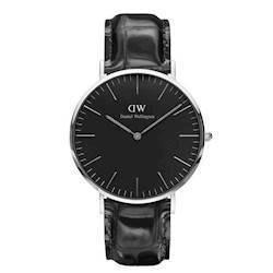 rustfri stål Classic Black Reading quartz Herre ur fra Daniel Wellington