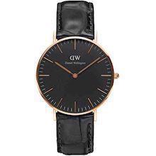 rosa forgyldt Classic Black Reading quartz Dame ur fra Daniel Wellington