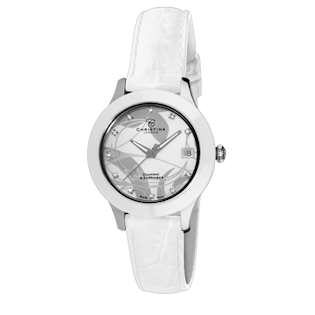 CHRISTINA WATCHES COLLECT MED DIAMANT, HVIDE SAFIRER OG KERAMIK DAMEUR