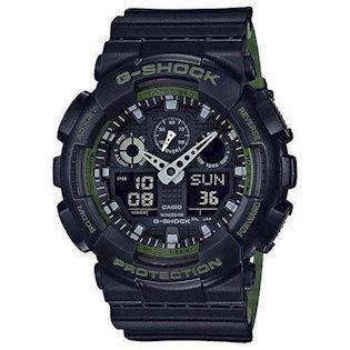 mat sort resin med stål G-Shock quartz multifunktion (5081) Herre ur fra Casio