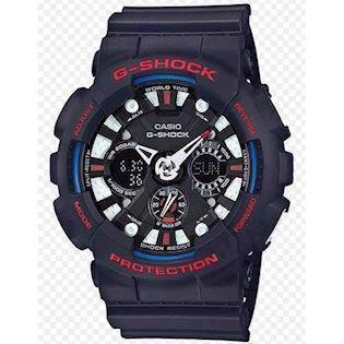 sort resin med stål G-Shock quartz multifunktion (5229) Herre ur fra Casio