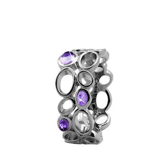 Big Amethyst Bubbles 925 Sterling sølv  samle fingerringe smykke fra Christina Collect
