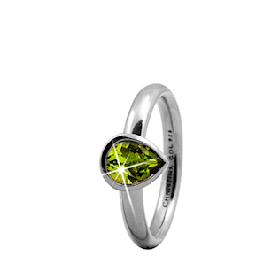 Peridot Pear 925 Sterling sølv  samle fingerringe smykke fra Christina Collect