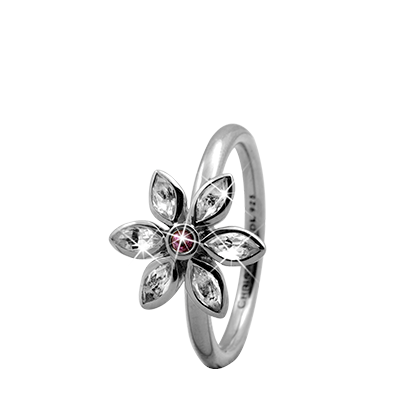 Marquise Flower 925 Sterling sølv  samle fingerringe smykke fra Christina Collect