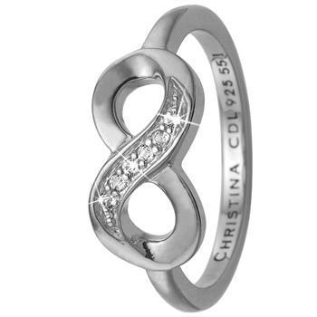 Eternity sterling sølv 2,9 mm samle fingerringe smykke fra Christina Collect