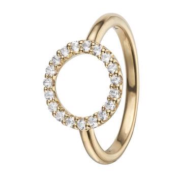Topaz Circle forgyldt  Collect fingerringe smykke fra Christina Collect