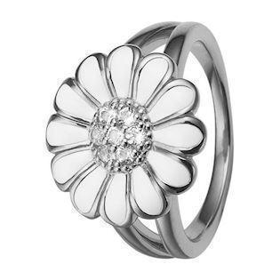 White Marguerite 925 sterling sølv  Collect fingerringe smykke fra Christina Collect