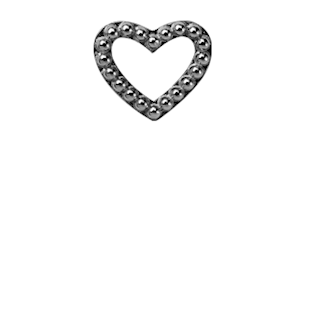 Christina Collect Heart Dots sort charm