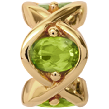 Christina Collect Peridot forgyldt charm