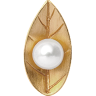 Christina Collect Pearl Leaf forgyldt charm