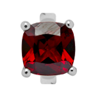 Christina Collect Garnet sølv charm