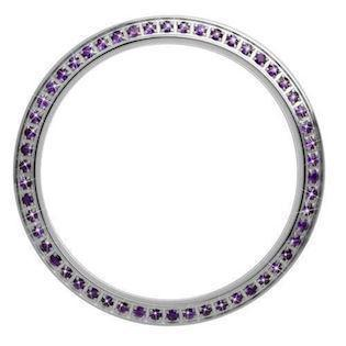 Topring i sølv med 54 lilla Amethyst fra Christina Jewelery & Watches