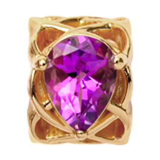 Christina Collect Pear Amethyst forgyldt charm